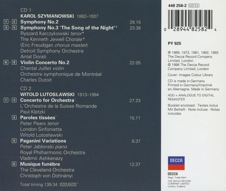 """Symphony No. 3 """"Song of the night"""""""