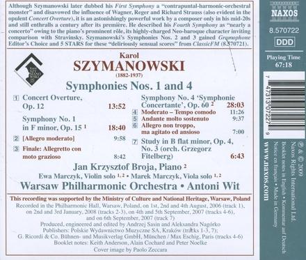 Symphonies nos.1 and 4