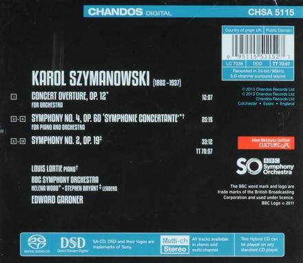 Symphonies nos 2 and 4 etc.