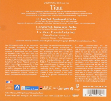 Titan : eine Tondichtung in Symphonieform / Hamburg-Weimar 1893-94 version