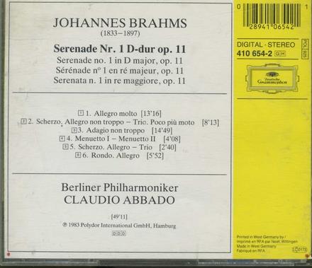 Serenade no. 1 op. 11