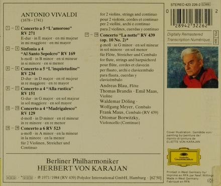 """Concerto a 5 RV 271, """"l'amoroso"""""""
