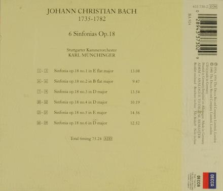 6 sinfonia's op.18