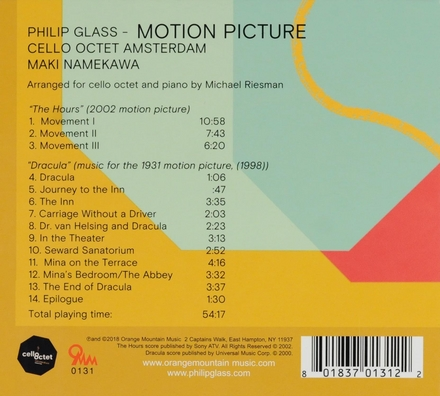 Motion picture : arranged for cello octet and piano by Michael Riesman