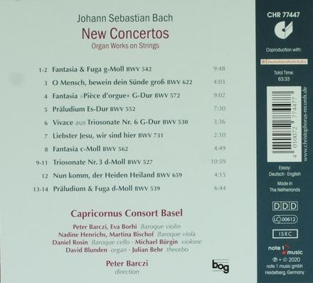 New concertos : organ works on strings