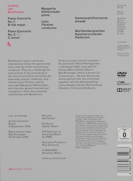Beethoven piano concertos 2 3