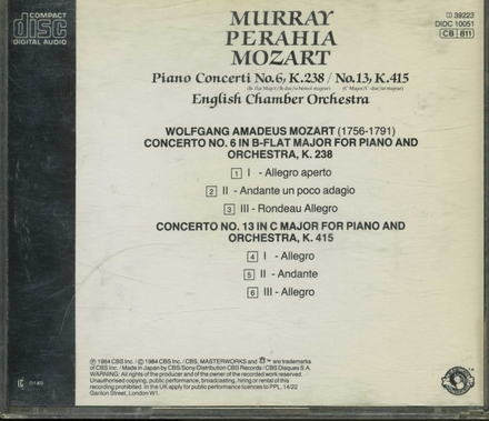 Concerto no.6 in B-flat major for piano and orchestra, K.238