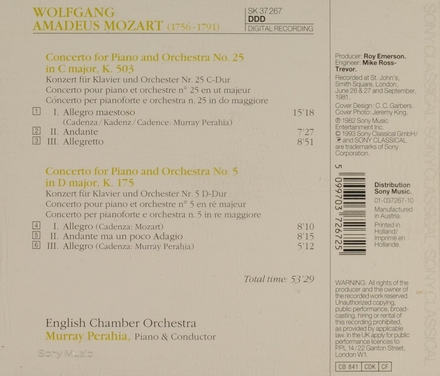 Concerto for piano and orchestra no. 25 in C major, K. 503
