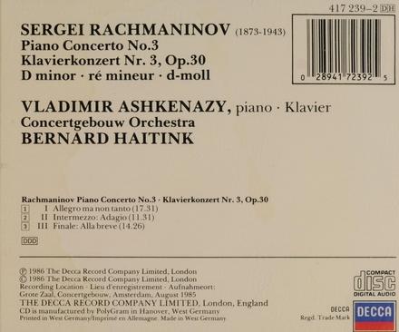 Piano concerto no.3 op.30