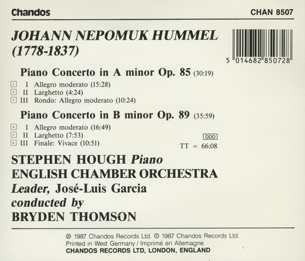 Piano concerto in a minor op. 85
