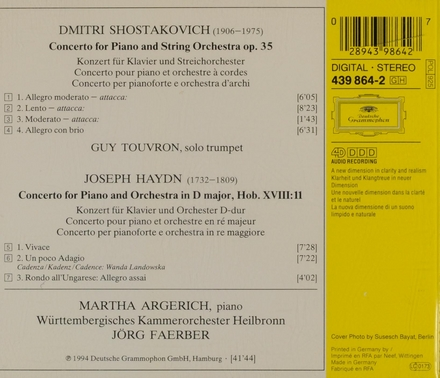 Konzert für Klavier, Trompete und Orchester op.35