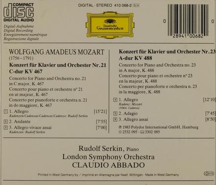 Piano concertos nos. 21 & 23