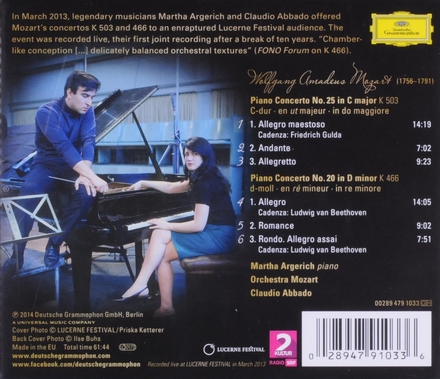 Piano concertos K 503 & K 466