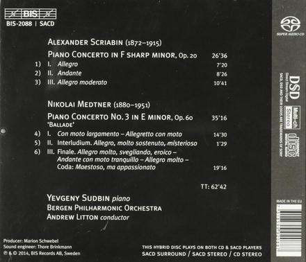 Piano concertos by Scriabin & Medtner