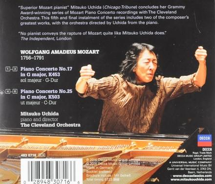 Piano concertos 17, K453 & 25, K503