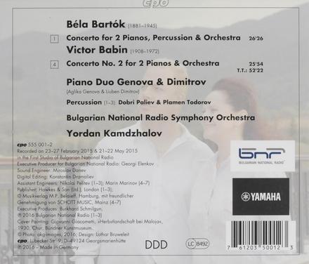 Concerto for 2 pianos, percussion & orchestra
