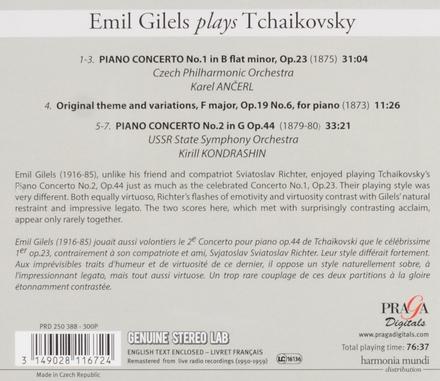 Emil Gilels plays Tchaikovsky