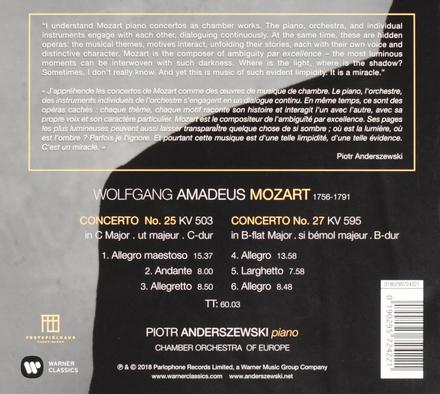 Piano concertos 25 & 27