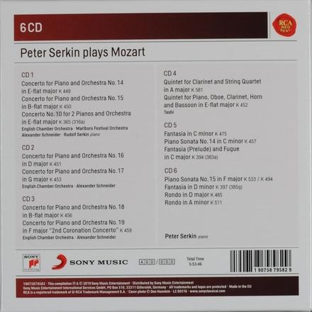Peter Serkin plays Mozart