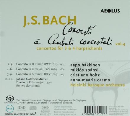Concerti à cembali concertati. Vol. 4