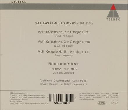 Violin concertos nos. 2, 3 & 5