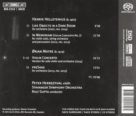 Henrik Hellstenius & Ørjan Matre : violin concertos