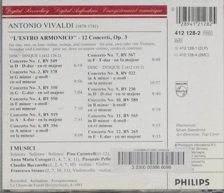 L'estro armonico, Op.3