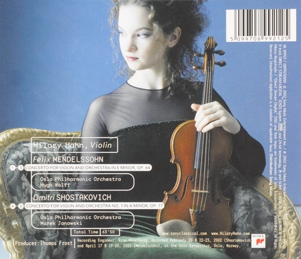 Concerto for violin and orchestra in e minor, op.64