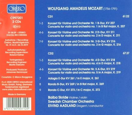 Violin concertos nos.1-5