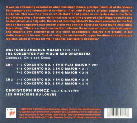 Mozart's violin : the complete violin concertos