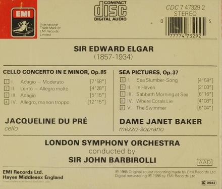 Cello concerto in e minor, op.85