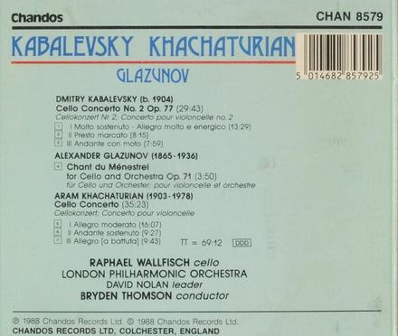 Kabalevsky Khachaturian Glazunov