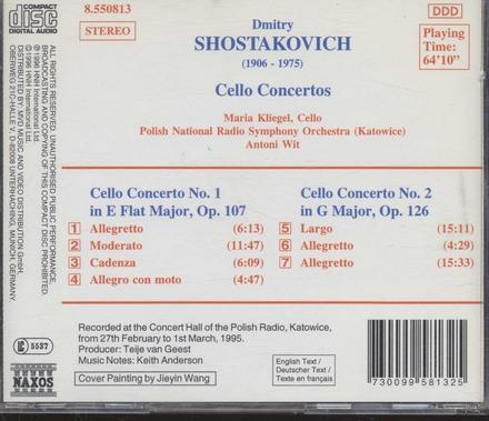 Cello concerto no.1 in E flat major, op.107