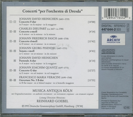 "Concerti ""per l'orchestra di Dresda"""