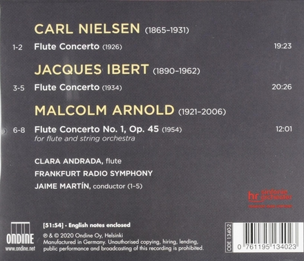 Nielsen, Ibert & Arnold : flute concertos