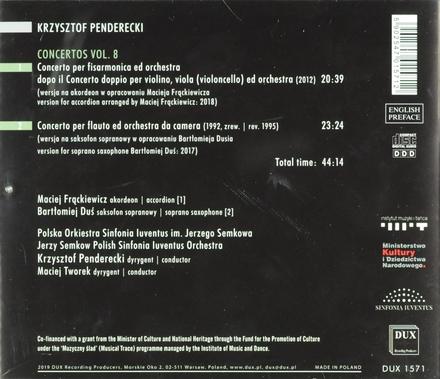 Concerto per fisarmonica ed orchestra. vol.8