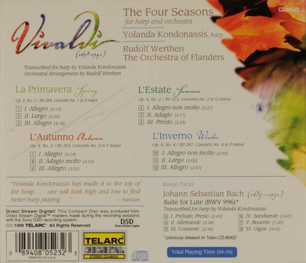 The four seasons for harp and orchestra
