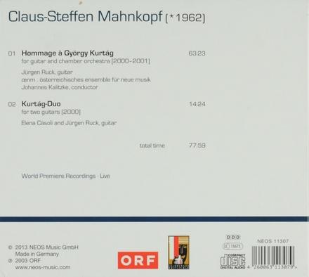 Hommage à György Kurtág. vol.4
