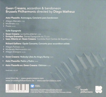 Piazzolla / Galliano : concertos for bandoneon & accordion