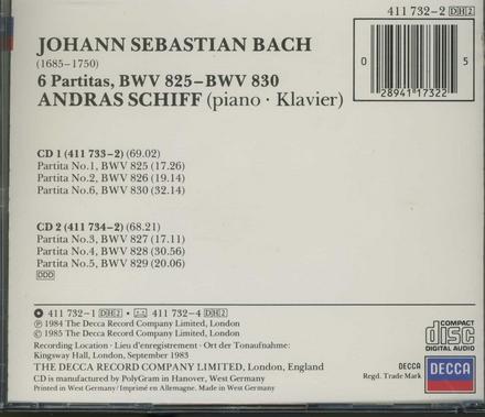 6 Partitas BWV 825-BWV 830