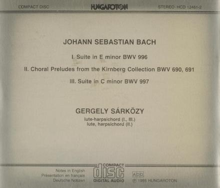 Suite in e minor BWV.996