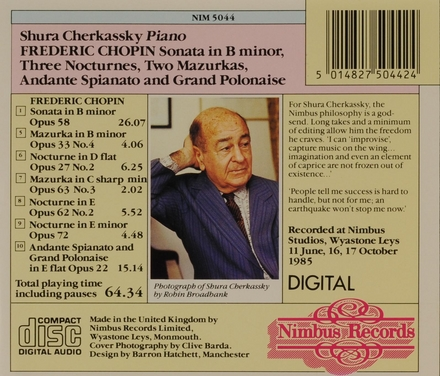 Sonata in b minor opus 58