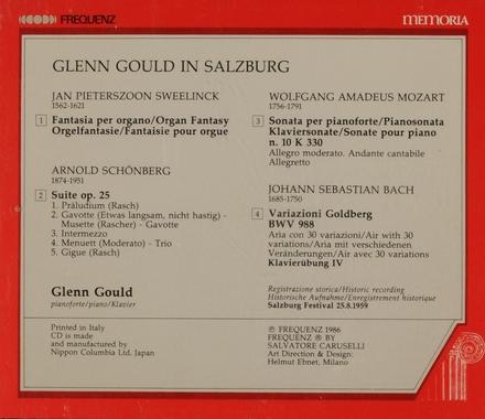 Glenn Gould in Salzburg