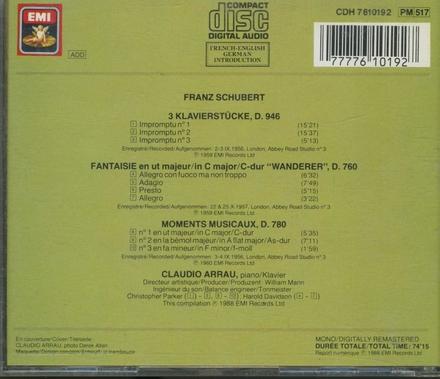 Drei klavierstücke, D.946