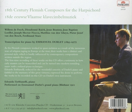 18th Century Flemish composers for the harpsichord : transcription for piano by Emmanuel Durlet