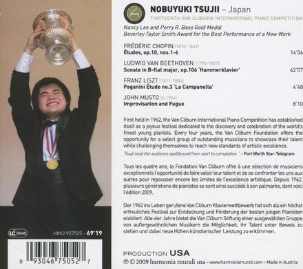 Gold medalist thirteenth Van Cliburn international piano competition