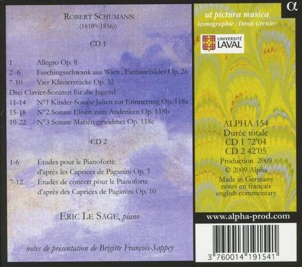 Faschingsschwank aus Wien ; Etudes d'après Paganini
