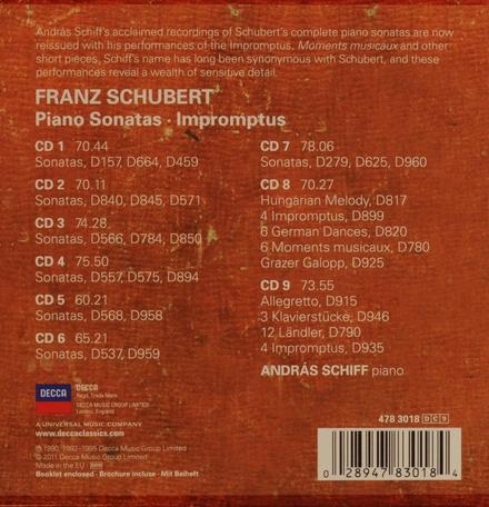Piano sonatas ; Impromptus