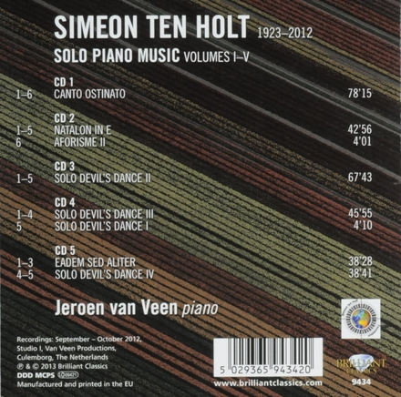 Solo piano music volumes I-V