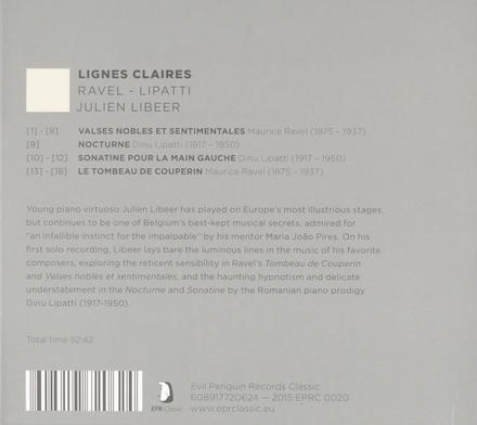 Lignes claires : Ravel, Lipatti